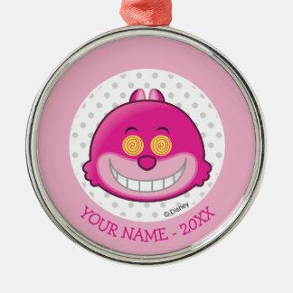 Alice in Wonderland | Cheshire Cat Emoji Metal Ornament