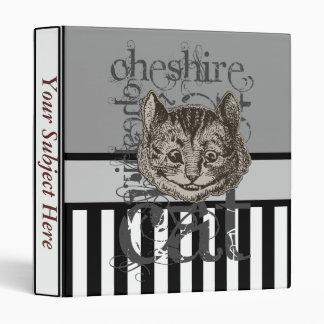 Alice In Wonderland Cheshire Cat Grunge Vinyl Binder