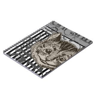 Alice In Wonderland Cheshire Cat Grunge Notebook