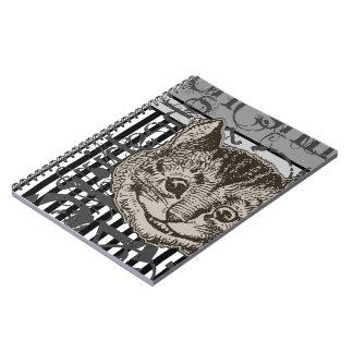 Alice In Wonderland Cheshire Cat Grunge Note Book