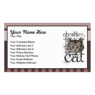 Alice In Wonderland Cheshire Cat Grunge (Pink) Double-Sided Standard Business Cards (Pack Of 100)