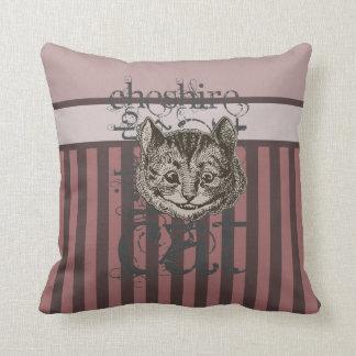 Alice In Wonderland Cheshire Cat Grunge (Pink) Pillows