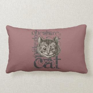 Alice In Wonderland Cheshire Cat Grunge (Single) Throw Pillow