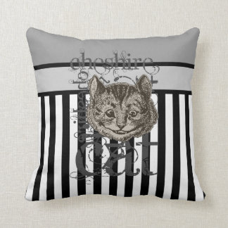 Alice In Wonderland Cheshire Cat Grunge Throw Pillows