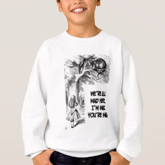 Alice in Wonderland Cheshire Cat Items Sweatshirt