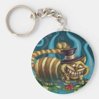 Alice in Wonderland Cheshire Cat Basic Round Button Keychain