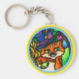 Alice in Wonderland Cheshire Cat Poker Player Keychain