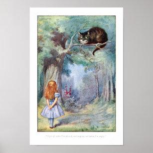 cheshire cat posters photo prints zazzle. Black Bedroom Furniture Sets. Home Design Ideas