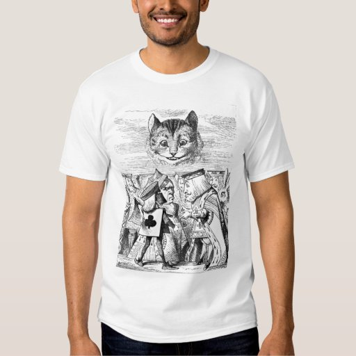 Alice in Wonderland Cheshire Cat Queen of Hearts T-shirt