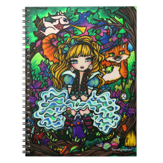 Alice in Wonderland Cheshire Cat Rabbit Notebook