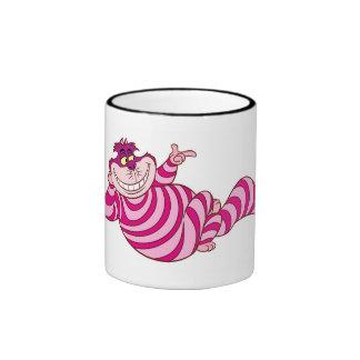 Alice in Wonderland Cheshire Cat snap finger Ringer Mug