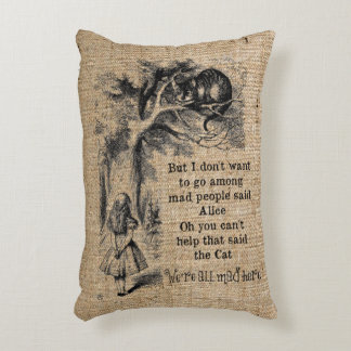 Alice in Wonderland; Cheshire Cat with Alice Accent Pillow