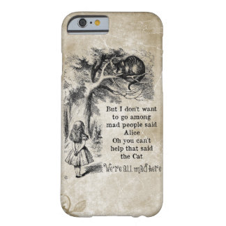 Alice in Wonderland; Cheshire Cat with Alice Barely There iPhone 6 Case