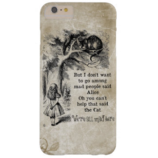 Alice in Wonderland; Cheshire Cat with Alice Barely There iPhone 6 Plus Case
