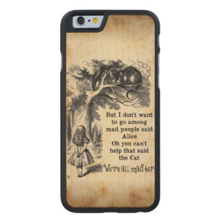 Alice in Wonderland; Cheshire Cat with Alice Carved Maple iPhone 6 Slim Case