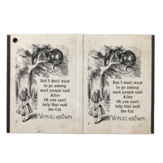 Alice in Wonderland; Cheshire Cat with Alice Cover For iPad Air