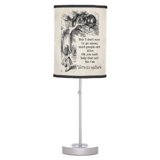 Alice in Wonderland; Cheshire Cat with Alice Desk Lamp