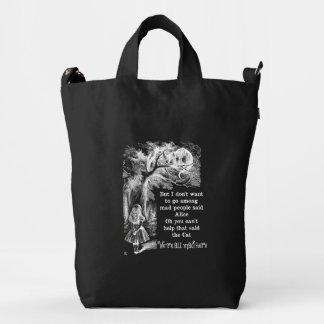 Alice in Wonderland; Cheshire Cat with Alice Duck Bag