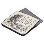 Alice in Wonderland; Cheshire Cat with Alice Laptop Computer Sleeve