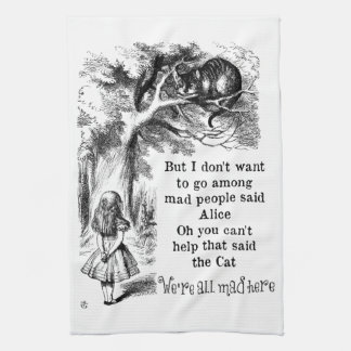 Alice in Wonderland; Cheshire Cat with Alice Hand Towels