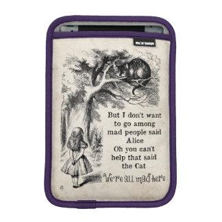 Alice in Wonderland; Cheshire Cat with Alice iPad Mini Sleeves