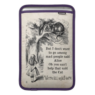 Alice in Wonderland; Cheshire Cat with Alice MacBook Sleeves