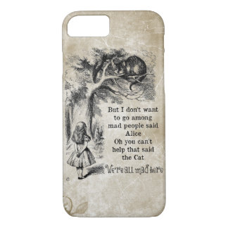 Alice in Wonderland; Cheshire Cat with Alice iPhone 8/7 Case