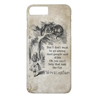 Alice in Wonderland; Cheshire Cat with Alice iPhone 8 Plus/7 Plus Case