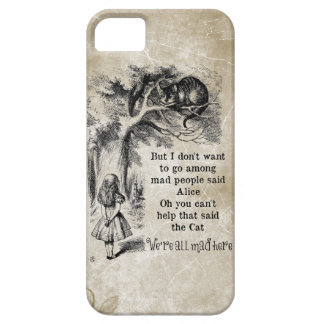 Alice in Wonderland; Cheshire Cat with Alice iPhone SE/5/5s Case