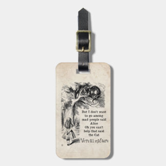 Alice in Wonderland; Cheshire Cat with Alice Travel Bag Tags