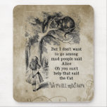 Alice in Wonderland; Cheshire Cat with Alice Mouse Pad