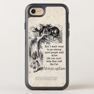 Alice in Wonderland; Cheshire Cat with Alice OtterBox Symmetry iPhone 7 Case