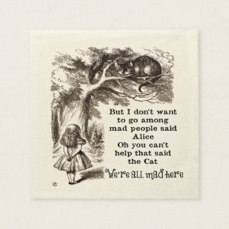 Alice in Wonderland; Cheshire Cat with Alice Paper Napkin