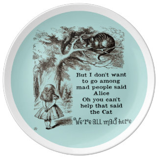 Alice in Wonderland; Cheshire Cat with Alice Plate
