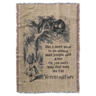 Alice in Wonderland; Cheshire Cat with Alice Throw Blanket