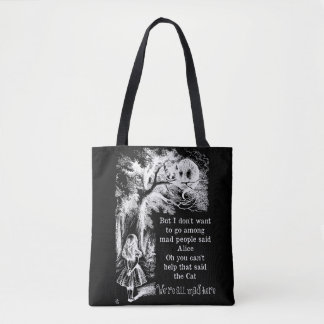 Alice in Wonderland; Cheshire Cat with Alice Tote Bag
