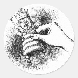 Alice In Wonderland Chessman Classic Round Sticker