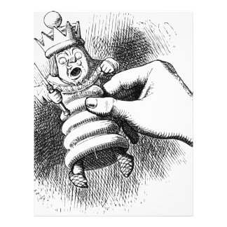 Alice In Wonderland Chessman Letterhead