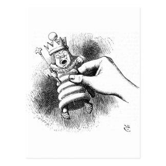 Alice In Wonderland Chessman Postcard