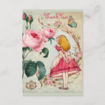 Alice in Wonderland Collage Thank You Baby Shower