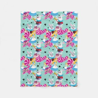 Alice In Wonderland | Colorful Fun Pattern Fleece Blanket