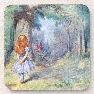 Alice in Wonderland  Cork Coaster Set
