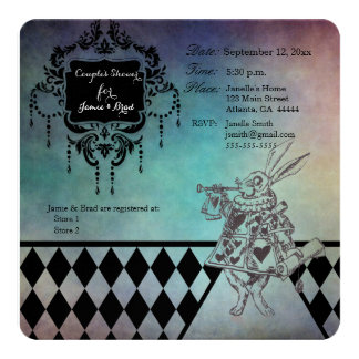 Alice in Wonderland Couple's Shower Invitations