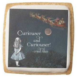 Alice in Wonderland Curious Santa Christmas Cookie