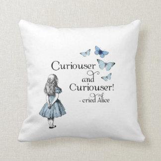 Alice in Wonderland Curiouser Butterflies Pillow