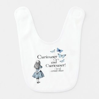Alice in Wonderland Curiouser Butterfly Baby Bib