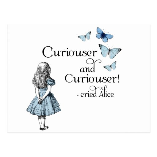alice in wonderland and a curious child Alice is the protagonist of the 1951 disney animated feature film alice in wonderland  wonderland a series of curious  alice, however, inquires to her child,.