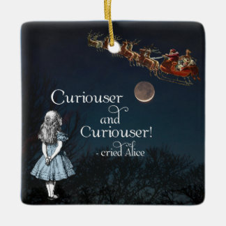 Alice in Wonderland Curiouser Christmas Ornament