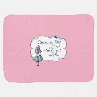 Alice in Wonderland Curiouser Pink Baby Blanket