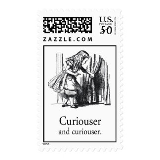 Alice In Wonderland Curiouser Postage Stamp